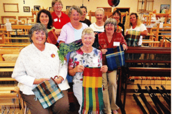 Ulla Miller and her Weaving Classmates