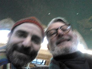 David Rakoff and Jan Davidson at Grand Central Station