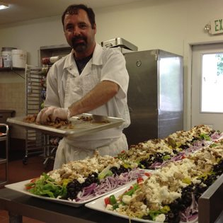 Steve Cipriano creates Greek chicken salad for lunch