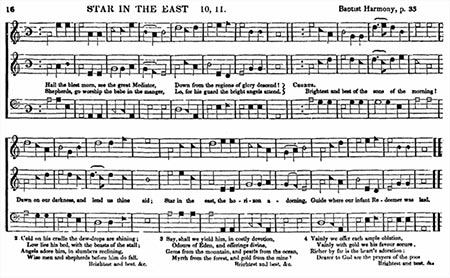"""Sample of Shape Note Music, """"Star in the East"""""""