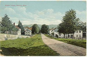 Vintage Postcard of the Shaker Village, Harvard MA