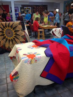 The quilting show at Fall Festival. Photo by Suzan deSerres.
