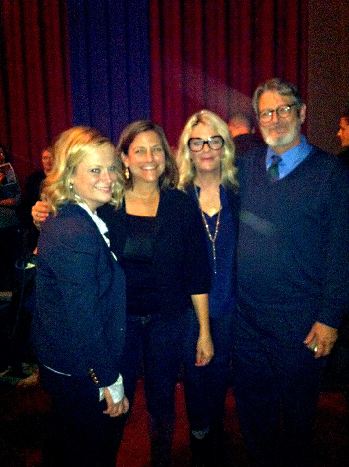 Here's a photo of Jan with (left to right) Amy Poehler, Cynthia D'Aprix Sweeney and Laura Krafft. Cynthia is a writer (among her credits, Country Living Easy Kitchen Makeovers, and humor) Laura won an Emmy writing the Colbert Report.