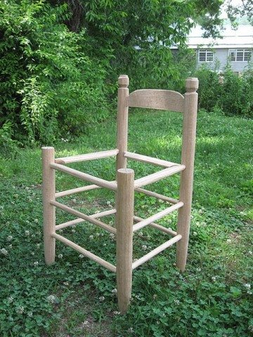 Ladderback Chair frame created in Lyle Wheeler's class
