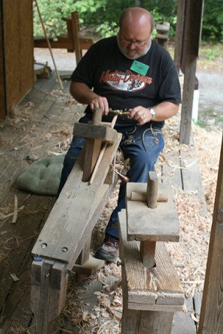 Tommy shows demonstrates using a spokeshave