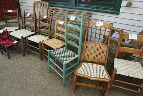 A variety of new seats give life to old chairs
