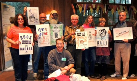 "Class photo and projects from Jim's class: ""The Art of the Great American Poster"""