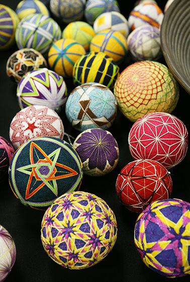 Fantastic Temari balls by Barbara Suess