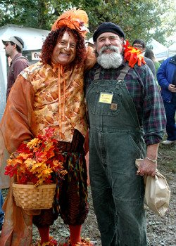 David Baker and Tom Patterson pose for a photo at Fall Festival.