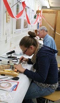 Kaleidoscope students at work in the Jewelry Studio