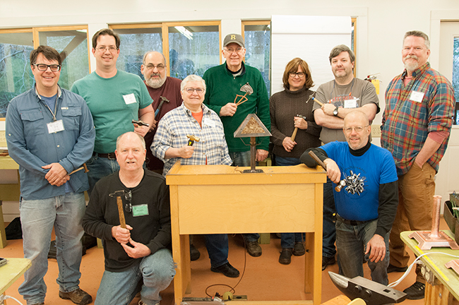 Class photo: Hammered Copper in the Arts and Crafts Tradition instructed by Bob Trout & Michael Houser