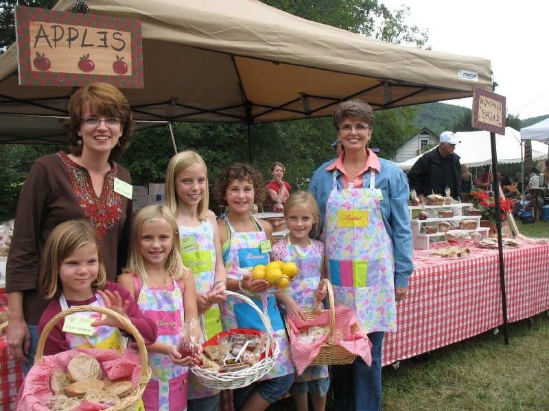 Three generations helped sell baked goods at Fall Festival