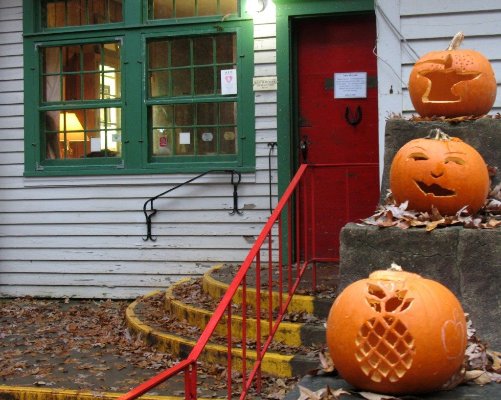 Pumpkins in front of Keith House