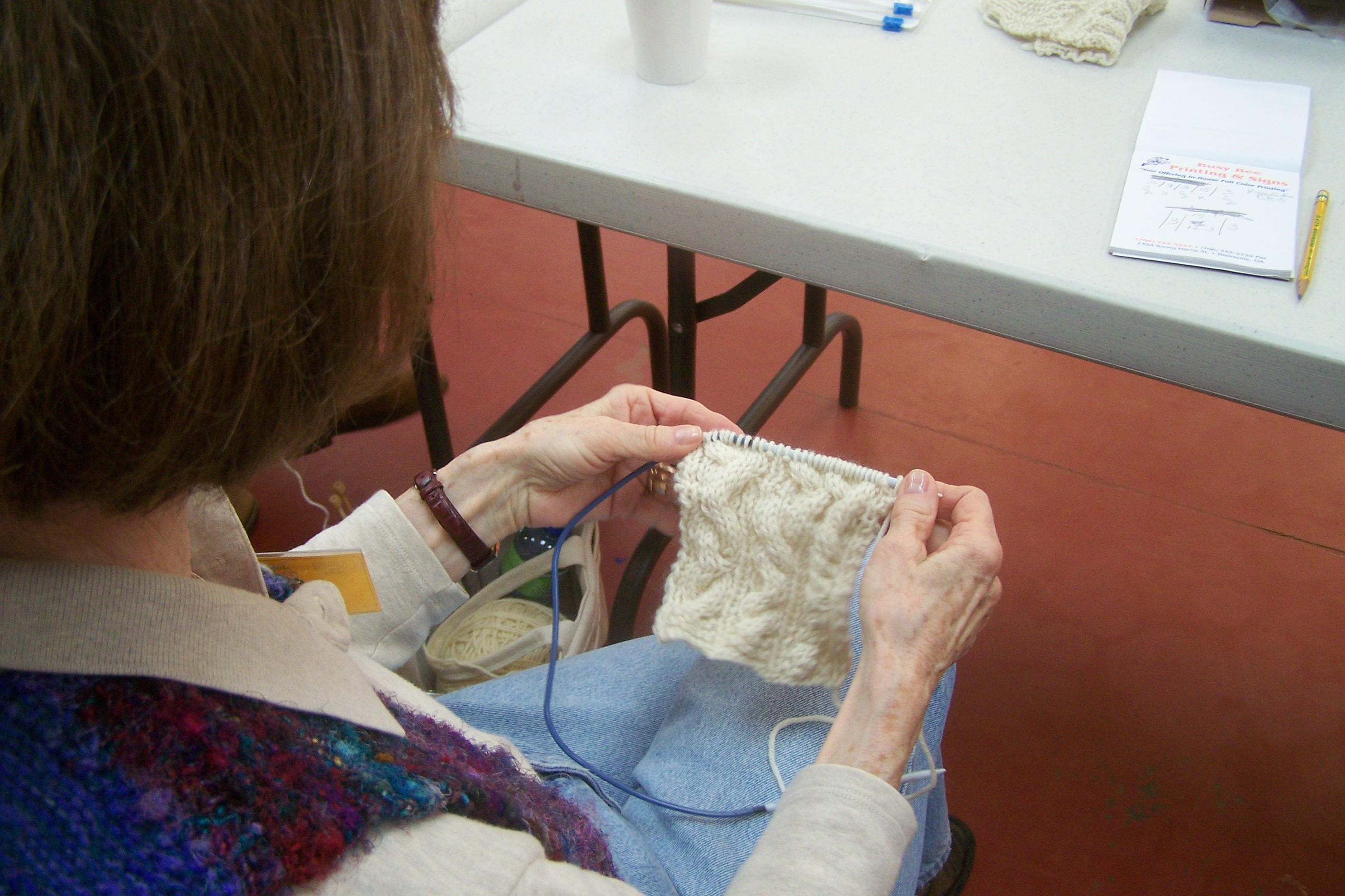 Monday in the Aran Knitting Class