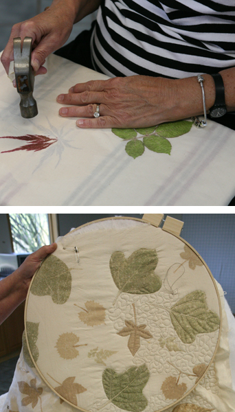 Cherokee Leaf Pounding and Quilting