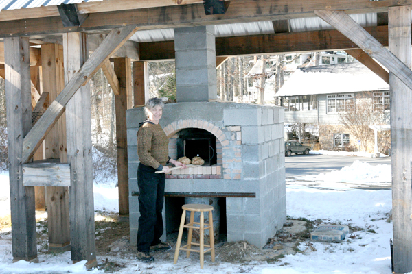 Outdoor Brick Oven in Use!