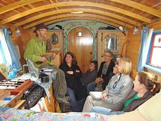 Come Visit The Book Making Ukulele Playing Gypsy Wagon In 2011 John C Campbell Folk School