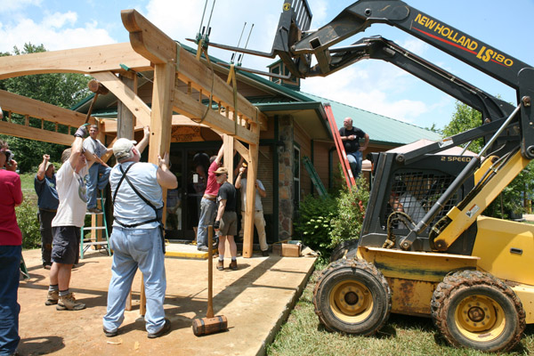 Timber Framing Class Produces Pergola