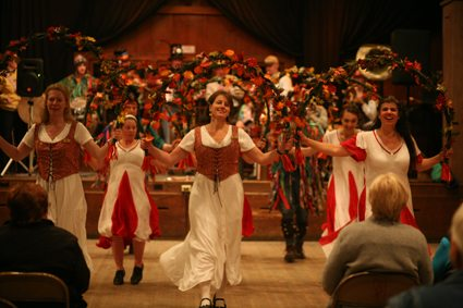 Brasstown Morris Dance Teams perform together