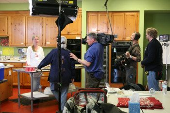 Craft in America films in the Cooking Studio