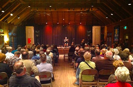 Aubrey performs in the Keith House, Sept. 2012
