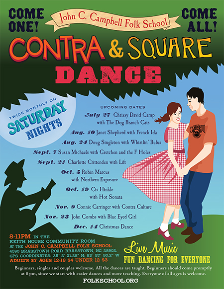 Contra Dance with Janet Shepard & French Ida