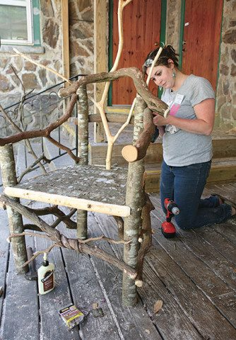Try your hand at Rustic Furniture Building during Earth Week.