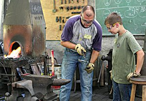 Family members work side-by-side during Intergenerational Week.