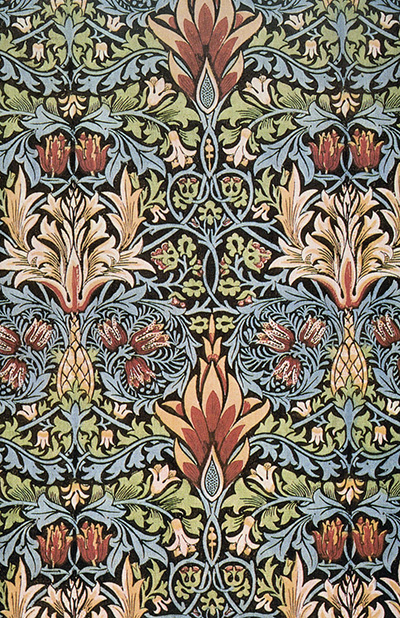 Snakeshead printed cotton designed by William Morris