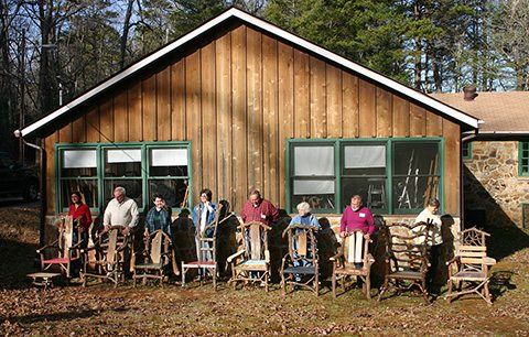 We hope to see you in a Chair Making class at the Folk School in 2014!