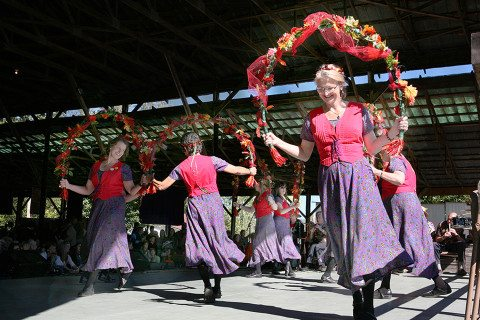 Rural Felicity Garland Dancers perform on the Festival Barn Stage