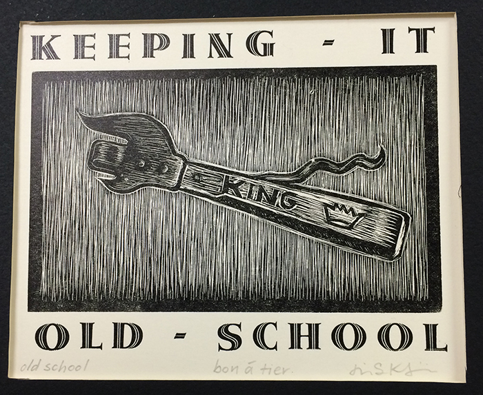 Student project from Jim Horton's Wood Engraving class