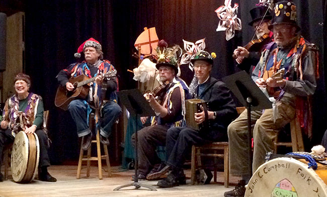 Brasstown Morris Dance Band plays for the Holiday Dance Performance