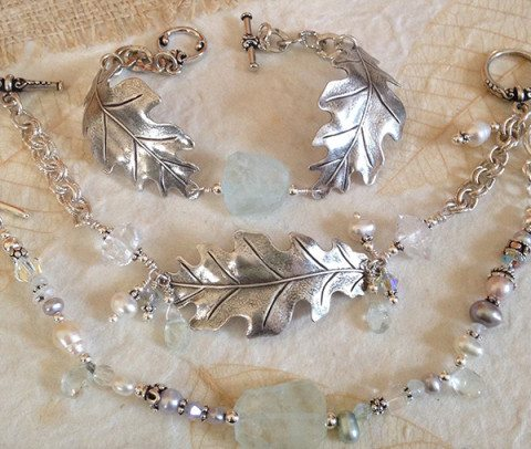 Jewelry pieces by Leanne Ewert of Triskele Moon Studios