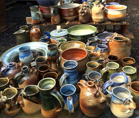 Beautiful pots from the March 2015 wood firing