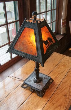Beautiful new lamp by Ron Nichols now live in the Keith House Coffee Room.