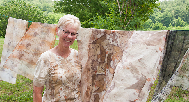 In the Studio: Eco Printing with Kathy Hays