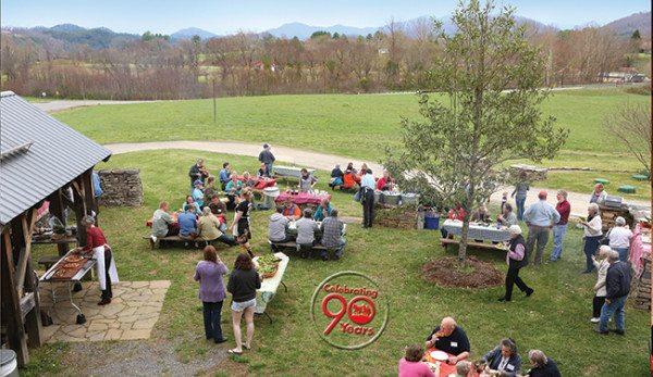 90th Birthday Pizza Party outside of Davidson Hall