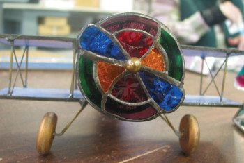 Airplane-themed kaleidoscope