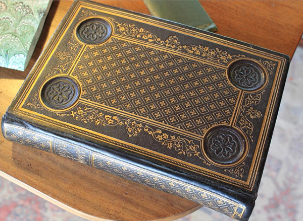 1852 embossed case binding with a Yale re-back and original spine re-attached over new leather