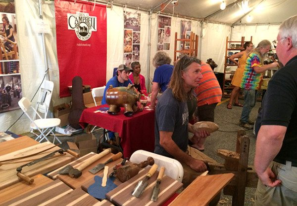 Our Folk School booth at the 76th National Folk Festival in Greensboro, NC.