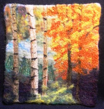 Felted landscape by Lorraine Cathey