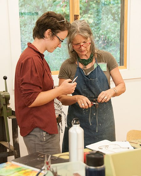 Kay teaching int the Jewelry Studio