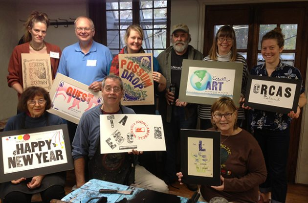 Our class photo: The Great American Poster with Jim Horton, Oct. 23-28, 2016