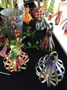 A variety of projects from Nanette and Keather's paper ornament class