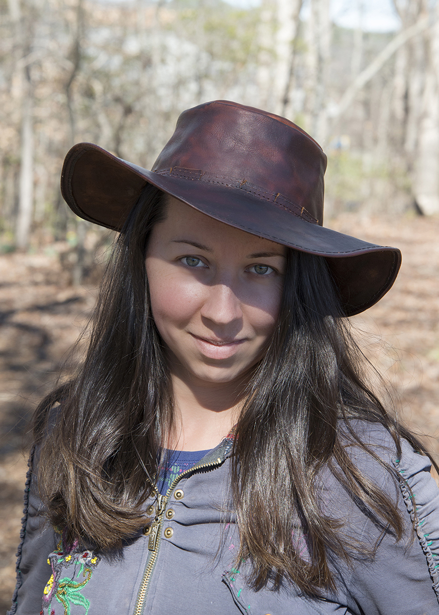 Leather Outback Hat with Donna Wiggins