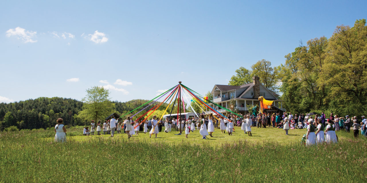 A Spring Tradition at the Folk School: Dancing around the Maypole