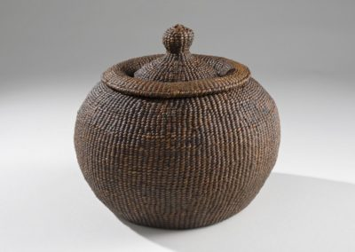 Chamber pot (2009). Hanji, lacquer; 6.25″ high.