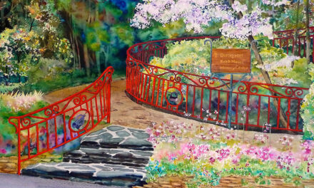 Follow the Red-Railed Walkway by June Rollins